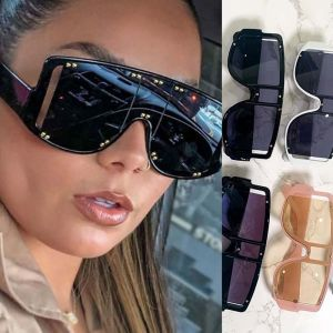 Mod fit shield sunglasses studded one lens shades