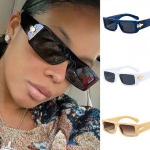 Flat Top Square Acetate Frame Vintage Sunglasses