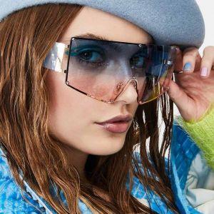 One Piece Goggles Shield Mono Lens Oversized Sunglasses