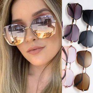 Alloy frame gradient lens butterfly women sunglasses