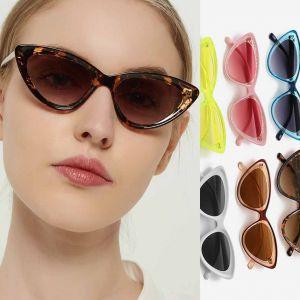 Cute Colorful Shades Cat Eye Girls Sunglasses