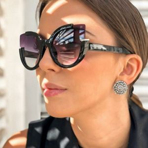 Trendy super chic cute cat's eye girls sunglasses