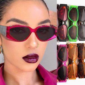 Celebrity retro acetate cat eye multicolored sunglasses