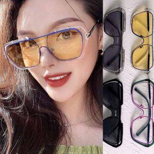 Vintage Style Fashion Mono Lens Oversized Sunglasses