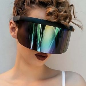 Futuristic Single Lens Super Big Shield Visor Sunglasses