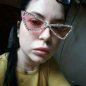 Crystals embellished girls BLING cat eye sunglasses