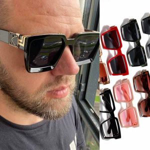 Luxury Bold Oversize Square Sunglasses w/ Metallic Bars