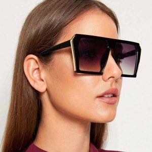 Retro mod trendy women fashion D frame sunglasses