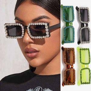 Rhinestone Decor Luxury Bling Cute Diamond Sunglasses