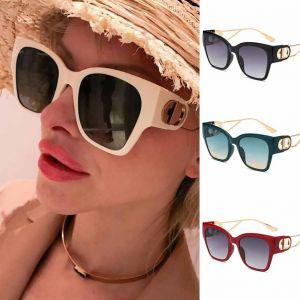 Fashion Luxury Gold Double D Hinge Cat Eye Sunglasses