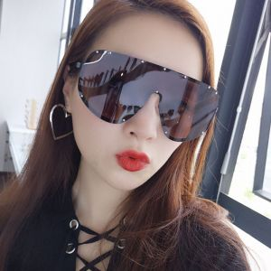 Large Shield Mono Lens Goggles Wrap Around Sunglasses