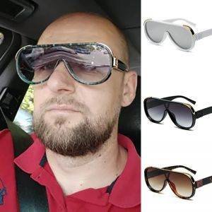 Retro classic pilot large gradient aviation sunglasses