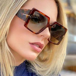Sunny collection fashion oversized square sunglasses