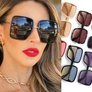 Women Oversized Female Fashion Luxury Square Sunglasses