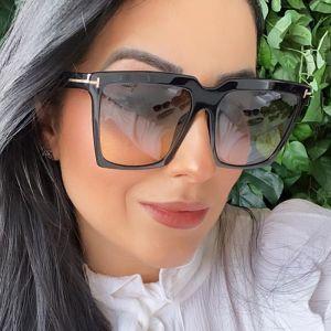 Big Square Sunglasses Gradient Lens Oversized Shades
