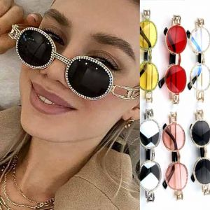 Luxury diamante steampunk bling rhinestone sunglasses