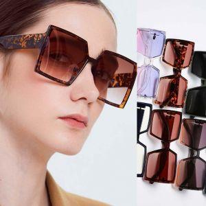 Oversized square sunglasses w/ large lens & bold legs