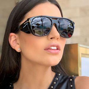 D Frame Steam Punk Oversize Side Shield Sunglasses