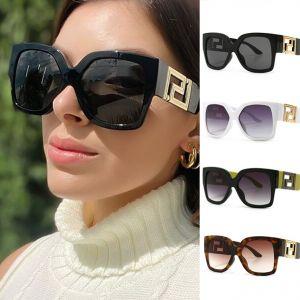 Luxury gold metallic hinge oversize square sunglasses