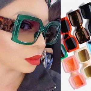 Bold Frame Rectangular Multicolored Youth Sunglasses