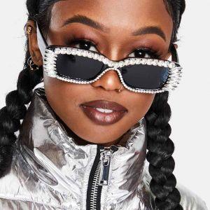 Luxury Diamand Cat Eye Cute Sunglasses for Girls